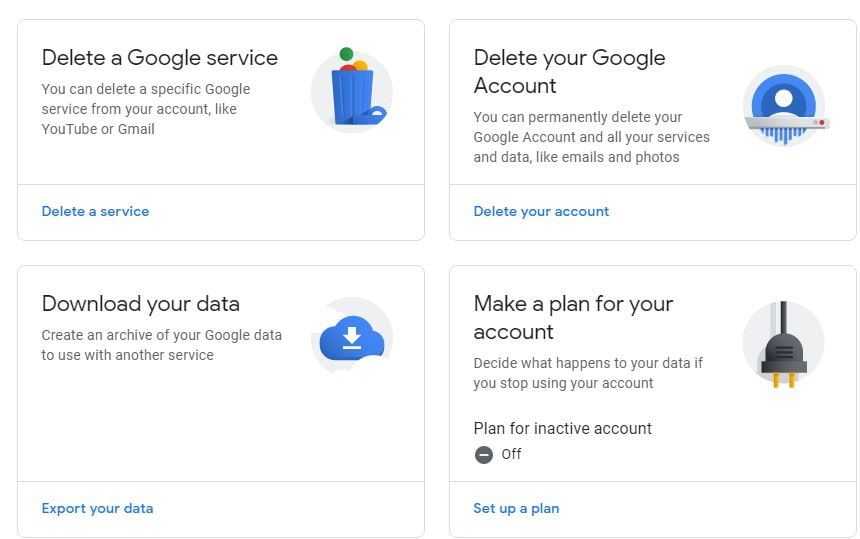 How to delete Gmail account 5