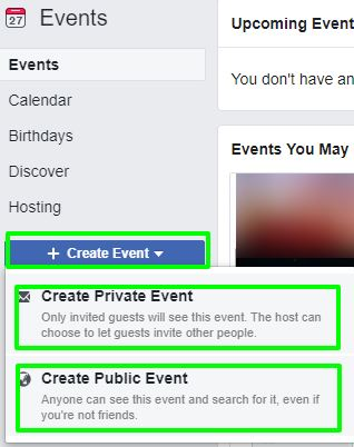 choose facebook event