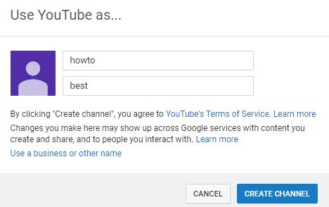 how to create a youtube channel 2