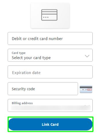 link card with paypal