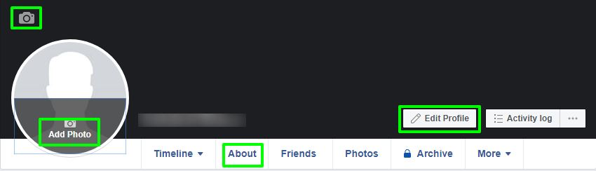 update facebook profile