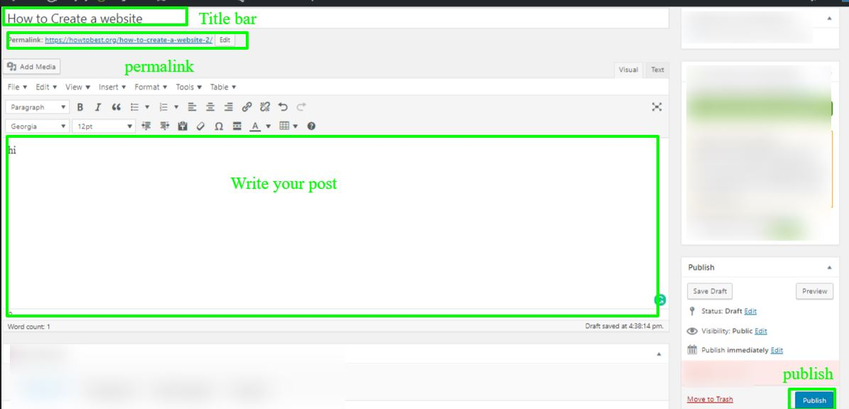 write a post in wordpress