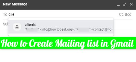 How to Create Mailing list in Gmail