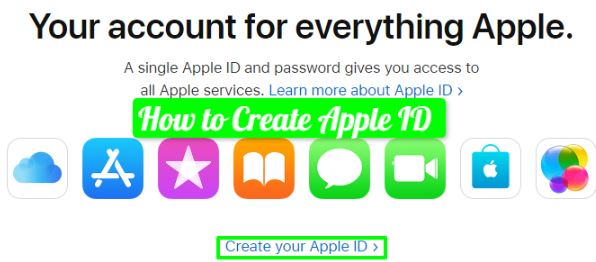 how to make apple id