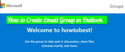 how to create email group in outlook