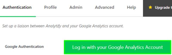 login with your google analytic account