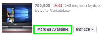 mark as available