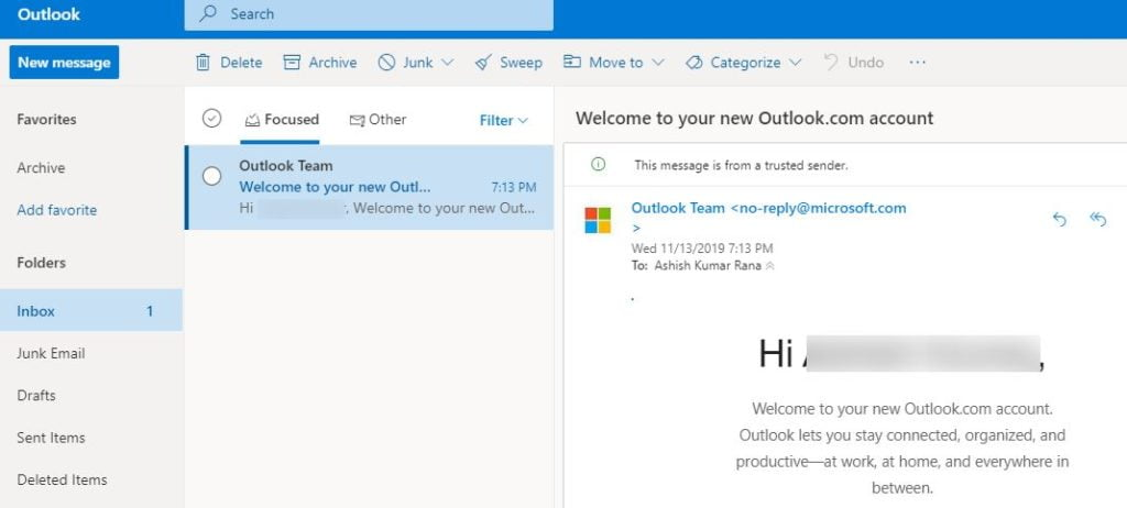 outlook email account