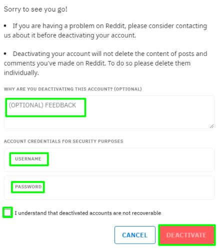 Enter Account Credential