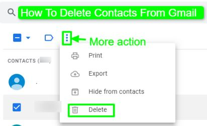 How To Delete Contacts From Gmail