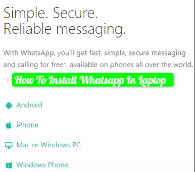 How To Install Whatsapp In Laptop In 3 Steps