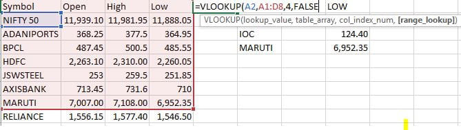 How To Use Microsoft Excel Vlookup Function