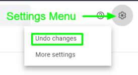 click on Undo Changes