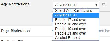 select age restriction