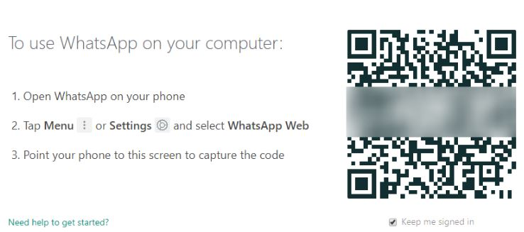Whatsapp in Web