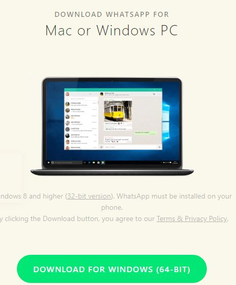 whatsapp download for Mac or Windows