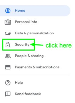 Click on Security