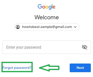 For Gmail password recovery click on Forgot password