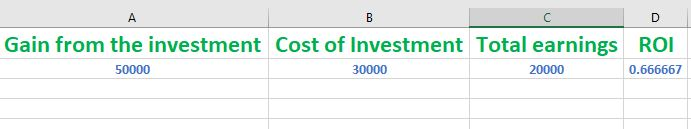 How to Calculate ROI in Excel