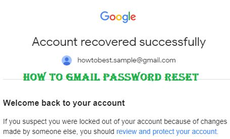How to Gmail Password Reset