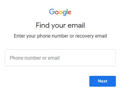 enter your phone number or recover email address