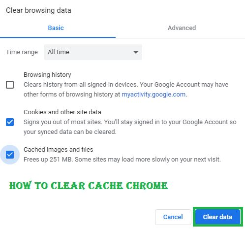 How To Clear Cache Chrome