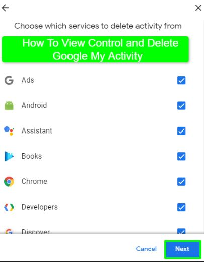 How To View Control and Delete Google My Activity