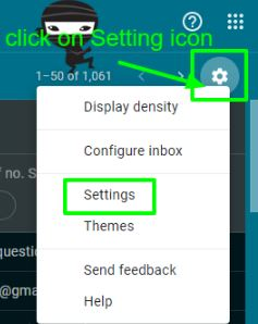 Tap on Settings icon and click Setting