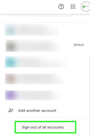 click on gmail sign out all accounts