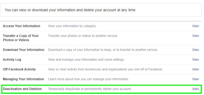 Click on Deactivation and Deletion