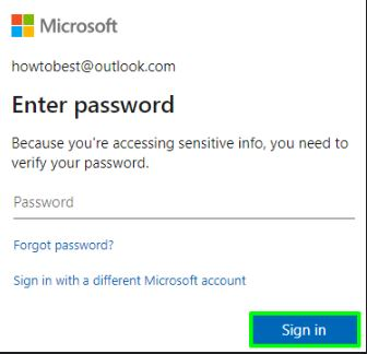 Enter Password for Verification