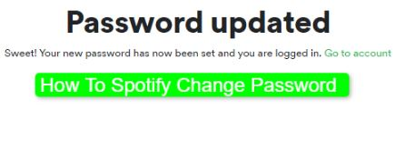 How To Spotify Change Password