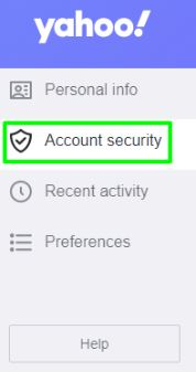 Tap on Account Security