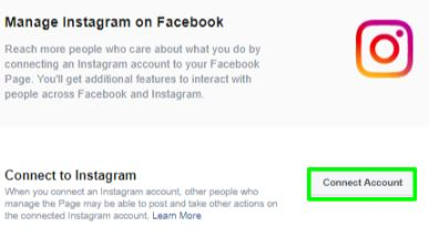 how to link Facebook with Instagram