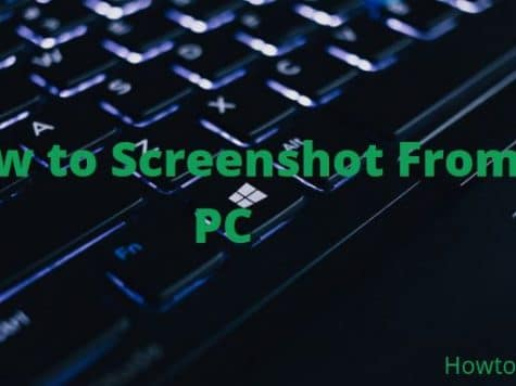 How to Screenshot From PC