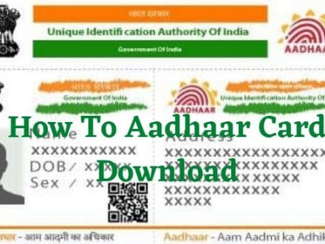 How To Aadhaar Card Download